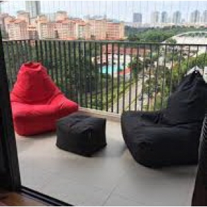 Кресло мешки для оформления балконов