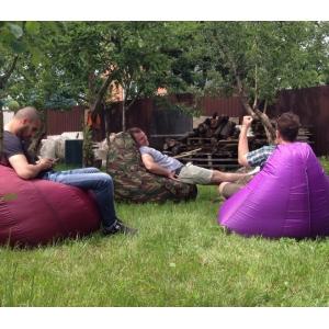 Кресло мешок, как мебель для загородного дома.