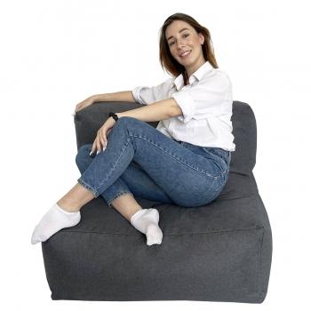 Бескаркасный модульный диван Блэк Прямой TIA-SPORT