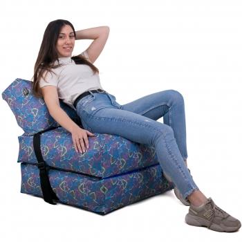 Бескаркасное кресло раскладушка Принт TIA-SPORT