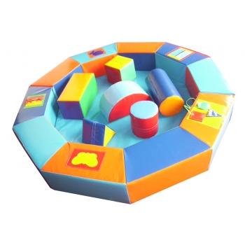 Сухой бассейн-манеж цветной с конструктором 210х30 см TIA-SPORT