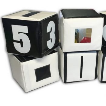 Набор кубиков черно-белый TIA-SPORT