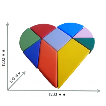 Конструктор танграм сердце TIA-SPORT