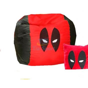 Кресло мешок мяч Человек паук красный TIA-SPORT