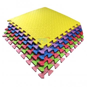Набор мягкие полы, коврик пазл 51х51х1см - 6 цветов TIA-SPORT