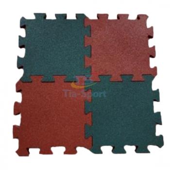 Резиновое покрытие Пазл 455х455 мм TIA-SPORT