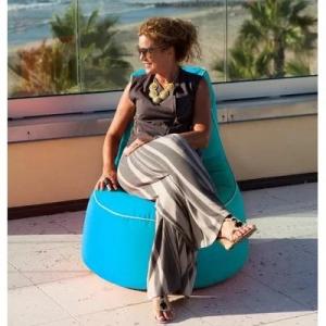 Бескаркасная мебель для уличного и пляжного пользования