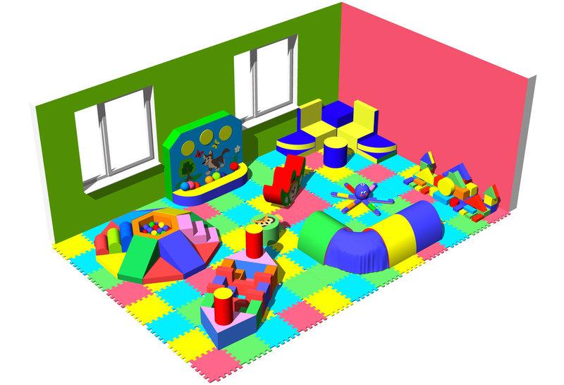 Модульные игровые мягкие комнаты до 100 кв.м